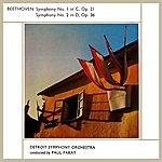 Detroit Symphony Orchestra Beethoven Symphony No. 1 & 2