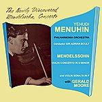 Yehudi Menuhin Mendelssohn Violin Concerto In D Minor
