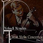 Yehudi Menuhin Great Violin Concertos (Disc I)