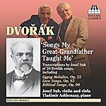 Josef Suk Dvorak, A.: Song Transcriptions For Violin/Viola And Piano