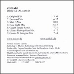 Zodiac Provincial Disco (Remixes)