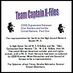 Team Captain Team Captains X- File. From The 2006 Agreement Between Star Nations And Earths United Nations. Part One