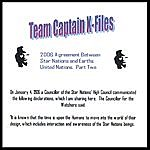 """Team Captain The Team Captains """"Meet."""" The 2006 Agreement Between Star Nations And Earths United Nations. Part Two."""