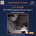 Edwin Fischer Bach, J.S.: Well-Tempered Clavier (The), Book 1 (Fischer) (1933-1934)