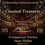 Moscow Chamber Orchestra Classical Tresures Composer Series: Jaan Raats, Vol. 1