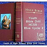 Dee Downey Pruett Youth Bible Drill Hcsb Blue Cycle 2: Youth & High School Bible Drill Verses
