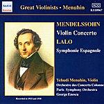 Yehudi Menuhin Mendelssohn: Violin Concerto / Lalo: Symphonie Espagnole (Menuhin) (1933, 1938)