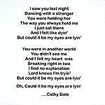 Cathy Dale Could It Be My Eyes Are Lyin'