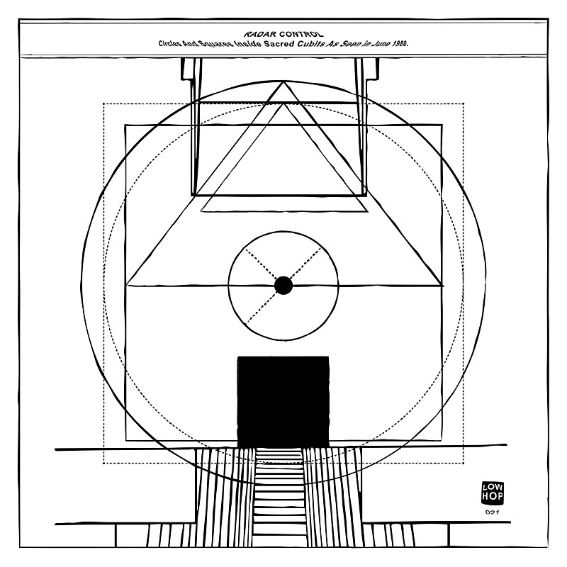 Cover Art: Circles And Squares Inside Sacred Cubits As Seen In June 1980.